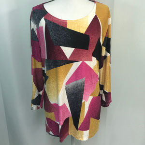 JM Collection Multicolored Top NEW WITH TAGS